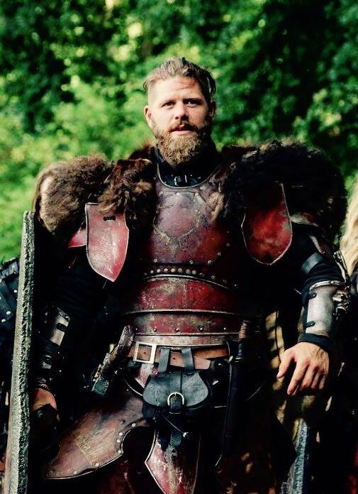 Sebastian Böger in seiner LARP-Rolle als Connorson McRoth - Althochkönig der Bracar Keltoi
