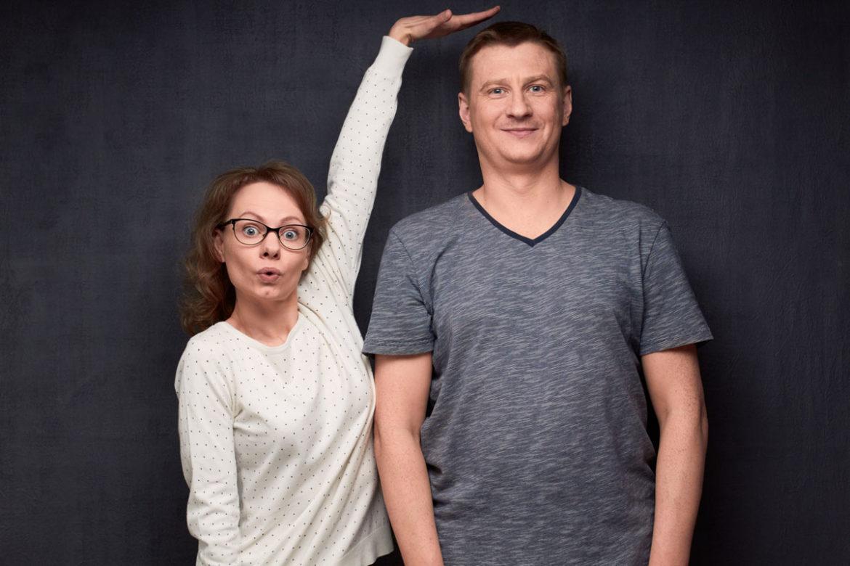 Größenunterschied: Muss der Mann größer sein als die Frau?