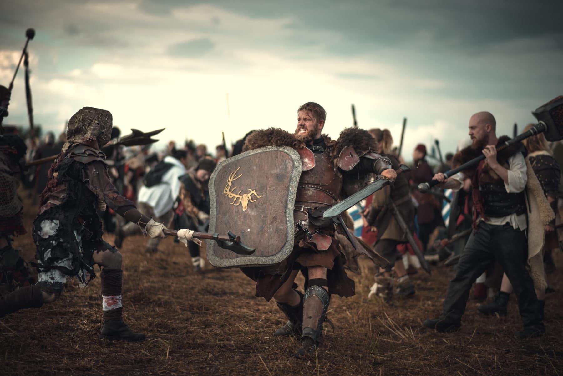 Klankönig führt seine Kämpfer in die Schlacht