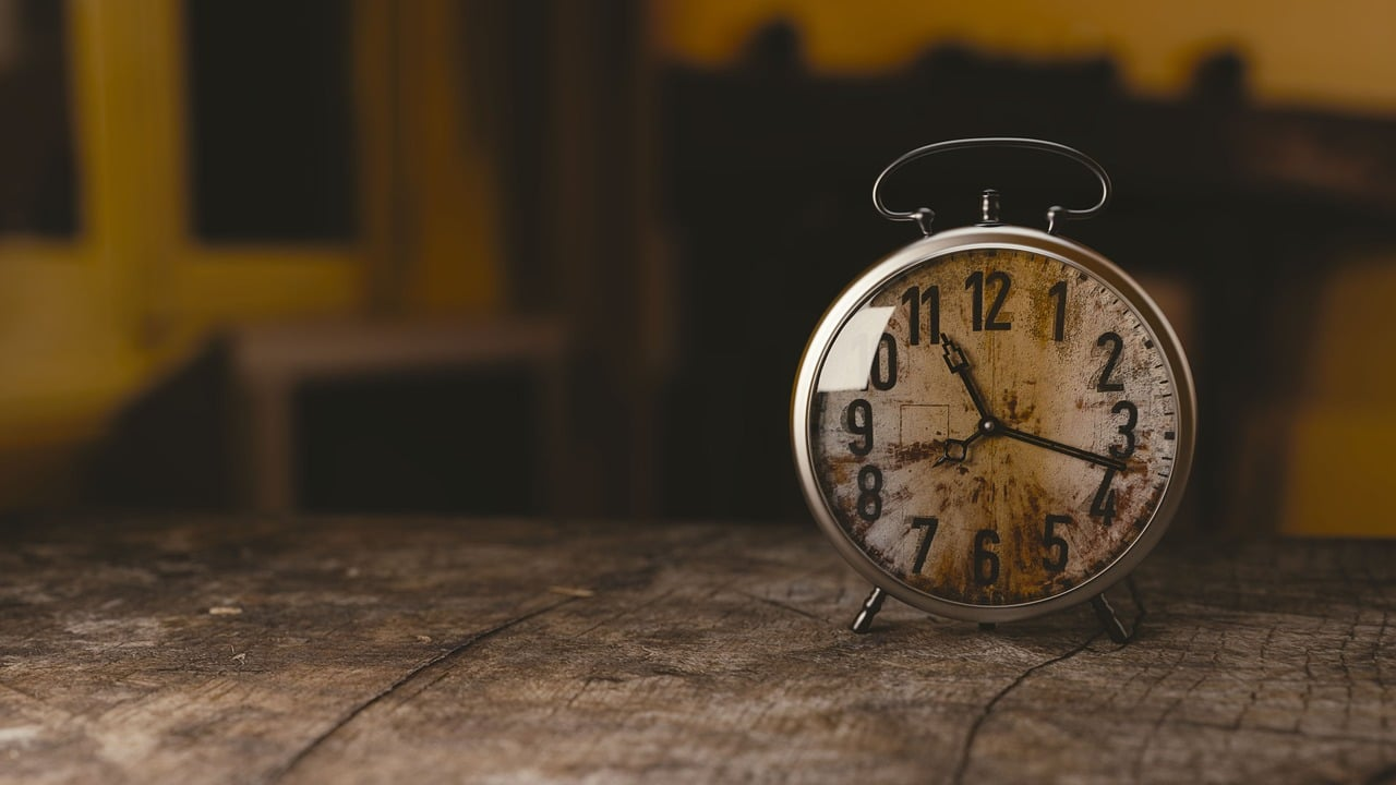 Uhr im Retrolook