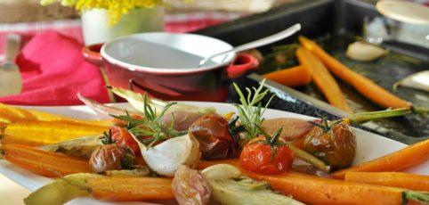 Gebratenes Gemüse schön angerichtet