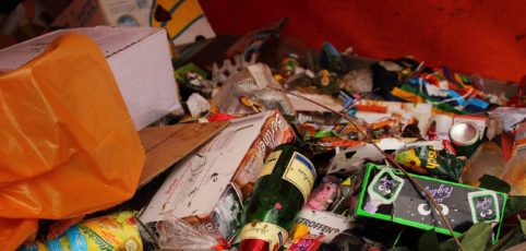 Müll in einem Container