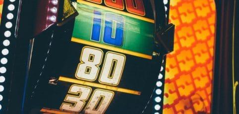 Zahlenrolle eines Geldspielautomaten