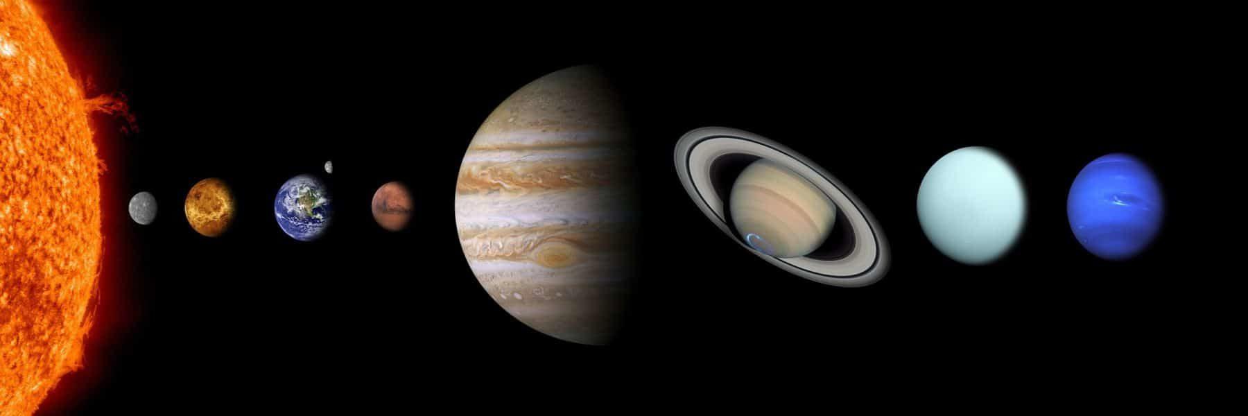 Unser Sonnensystem mit Planeten