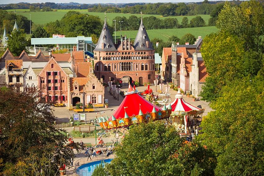 Luftaufnahme des Freizeit Hansapark