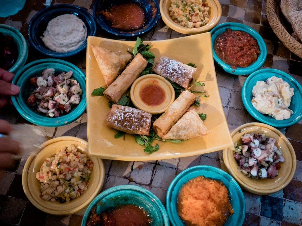 Aufgetischt in einem Restaurant in Kairo