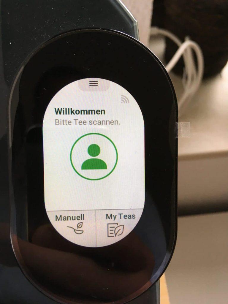 Teemaschine Test: Touch-Display des Temial