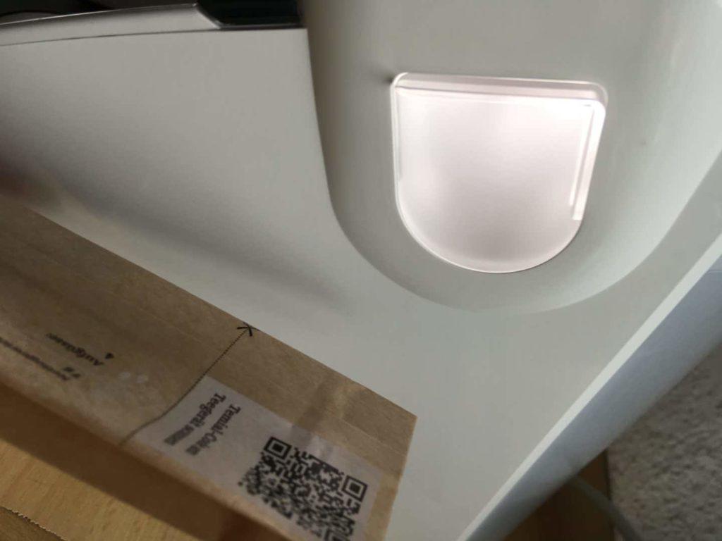Teemaschine Test: Detailaufnahme QR-Scanner am Temial