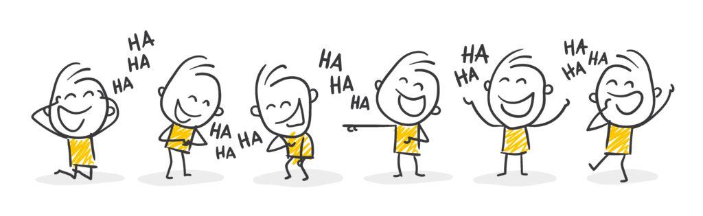 Strichmännchen die lachen