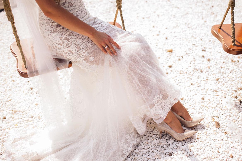 Brautschuhe Ivory als Symbol für eine glückliche Ehe